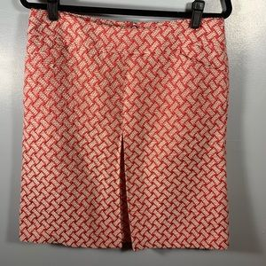 Talbots | Coral & Pink Basketweave A Line Skirt 10